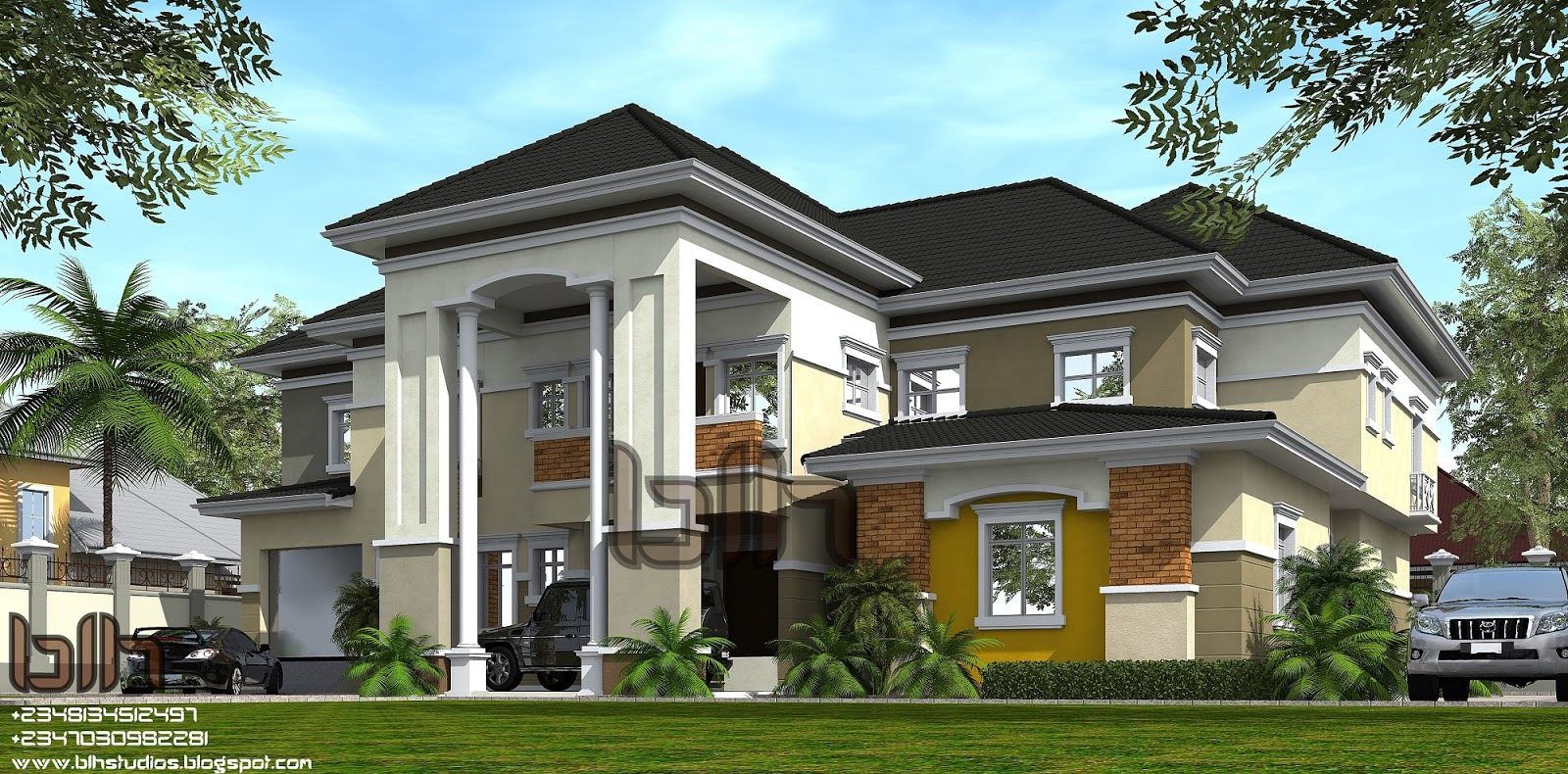Architectural designs by blacklakehouse 6 bedroom duplex for Architectural designs for 5 bedroom duplex