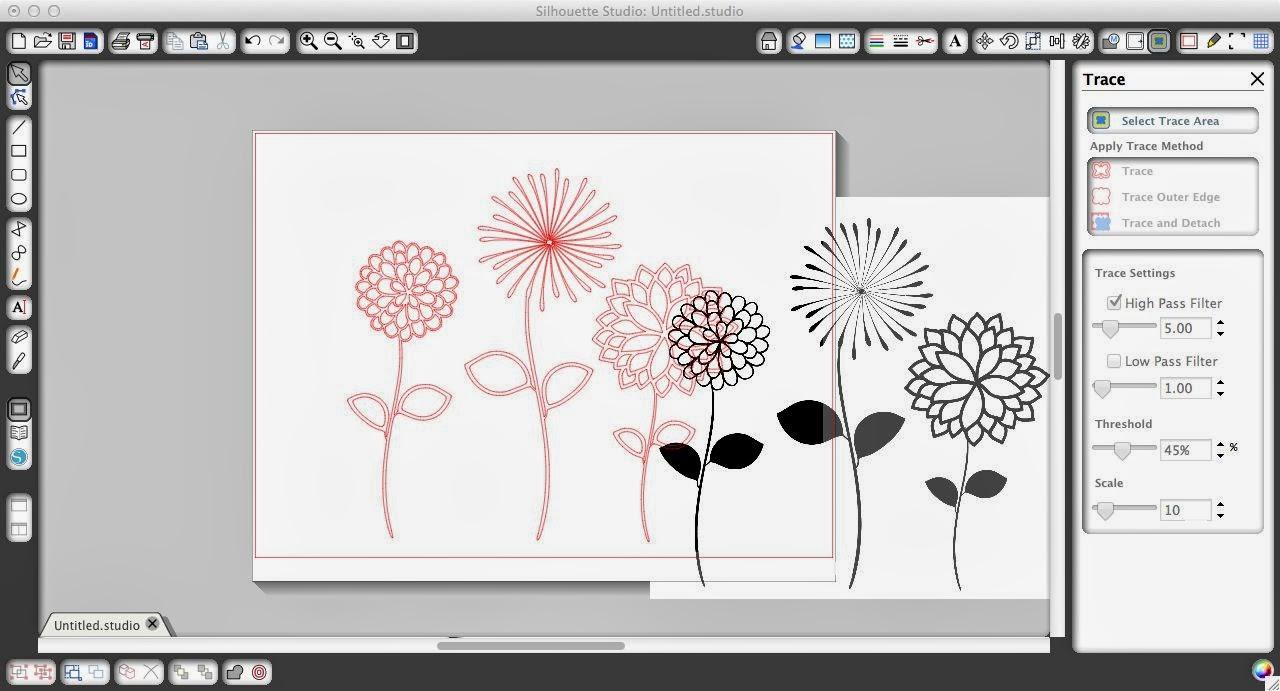 PicMonkey designs, Silhouette Studio, cut, trace