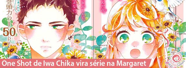 One Shot de Iwa Chika vira série na Margaret:  'Jewelry - Hane to Kotori no subarashiki hibi'