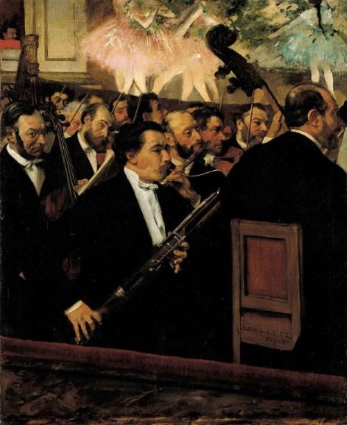 A Orquestra da Ópera, pintura de Edgar Degas.