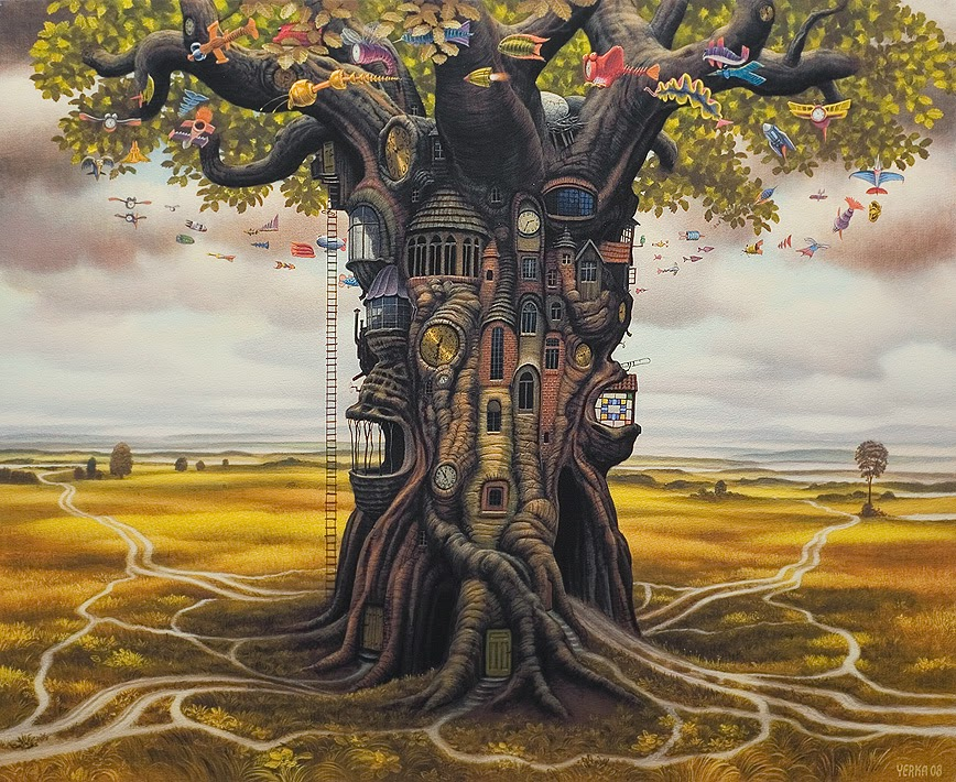 16-Residential-Oak-Jacek-Yerka-Surreal-Paintings-Parallel-Universes-www-designstack-co