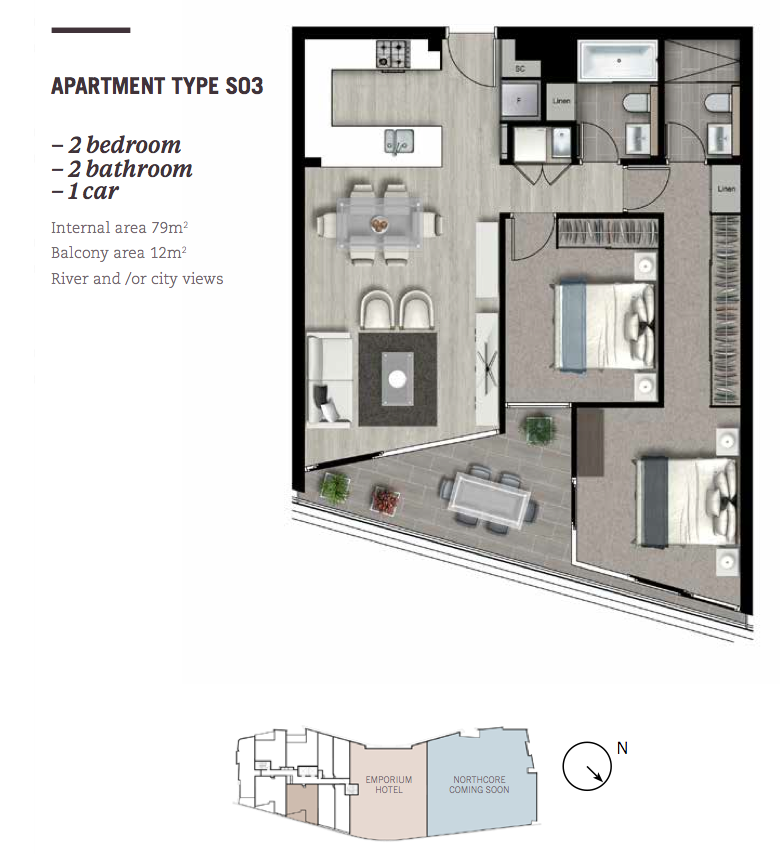 Southpoint Apartments: Brisbane Apartment: SouthPoint