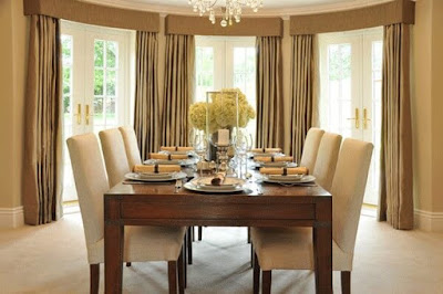 Dining Room Window Treatments-Drapery