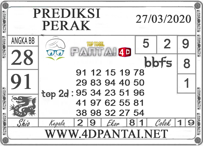 PREDIKSI TOGEL PERAK PANTAI4D 27 MARET 2020