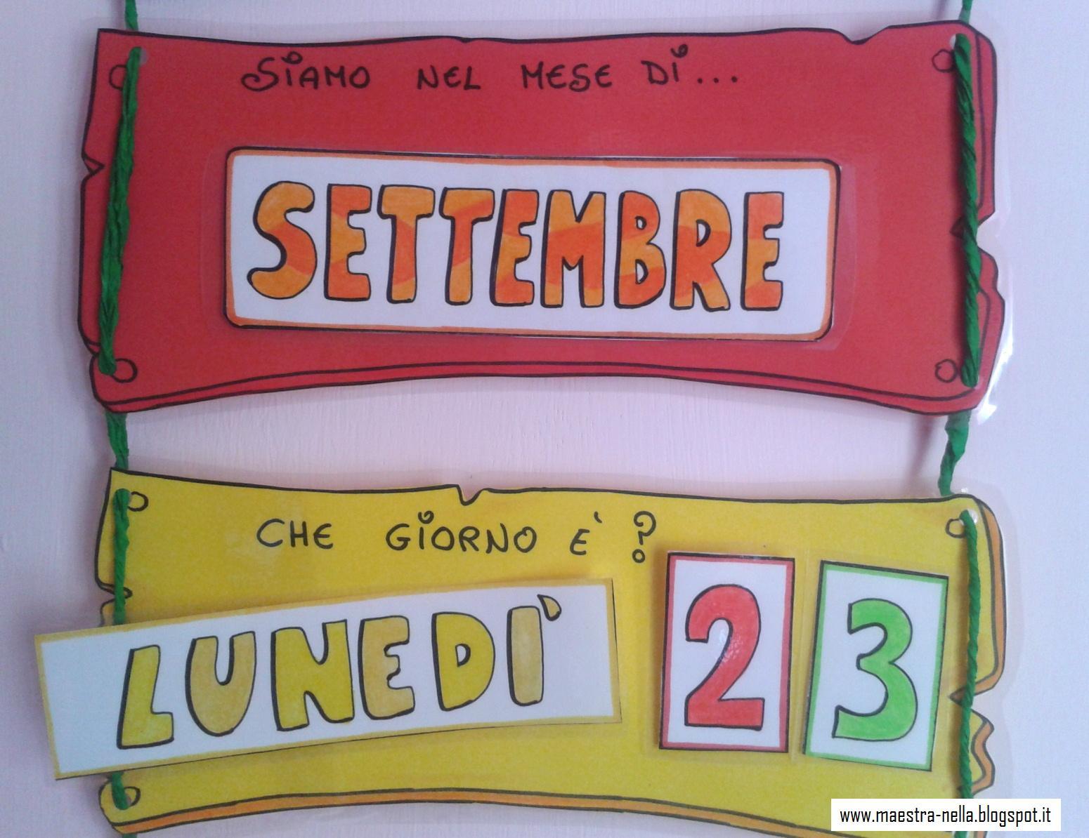 Calendario Bambini Scuola Infanzia.Maestra Nella Il Calendario