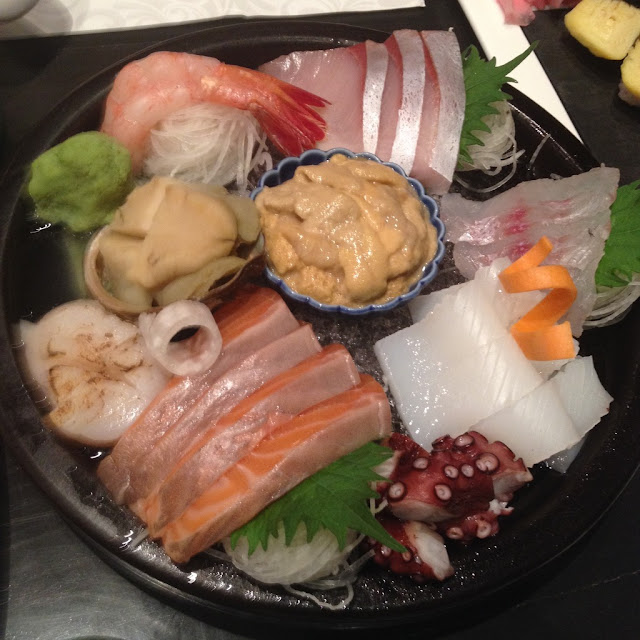 Sashimi plate at Ebisuya