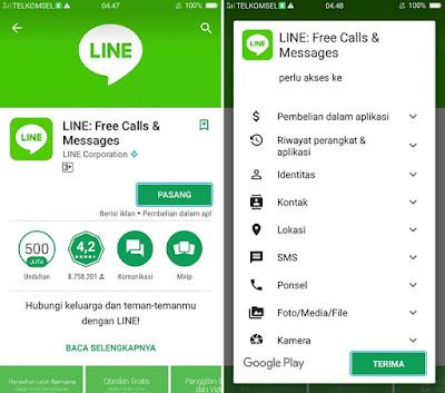 Install Aplikasi LINE