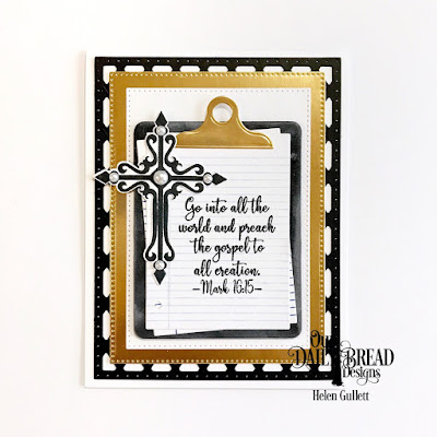 Our Daily Bread Designs Stamp Set: Sunday School Teacher, Stamp/Die Duos: Notebook Paper, Custom Dies: Crosses, Clipboard Set, Lattice Background, Pierced Rectangles