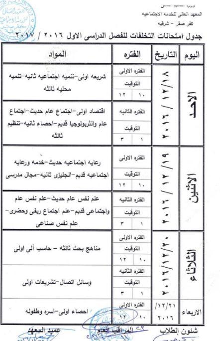 المعهد العالى للخدمه الاجتماعيه بكفر صقر - الشرقية Social work Sharqia