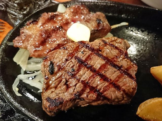 あぐー豚&牛ステーキセットの写真