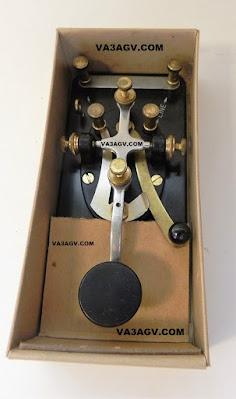 VA3AGV Lionel Morse Code J-38 VA3AGV VE3SP Amateur Radio Toronto Canada