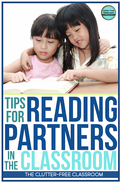 How does the Clutter Free Classroom manage elementary book buddies, book clubs, and reading partners in her classroom? She shares her classroom management strategies and tips for accountability for read to someone, reading partnerships, and partner activities and responses with anchor chart and poster ideas.