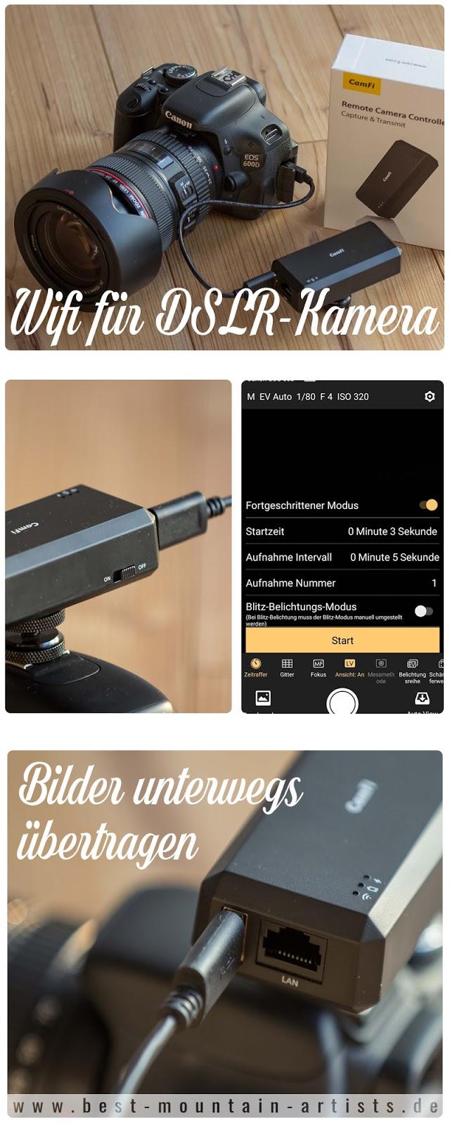 Bilder von DSLR unterwegs übertragen - CamFi Wifi Spiegelreflexkamera