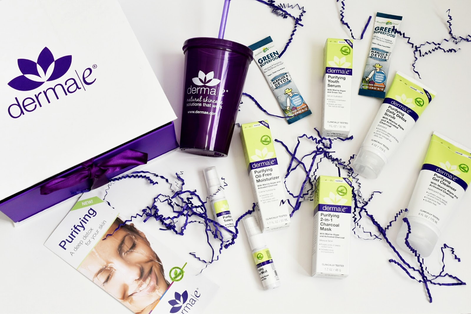 Unboxing of derma e Purifying Skin Care Line  via  www.productreviewmom.com