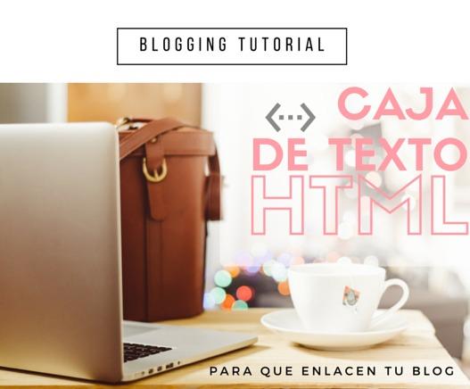 Caja de texto HTML para que enlacen tu blog