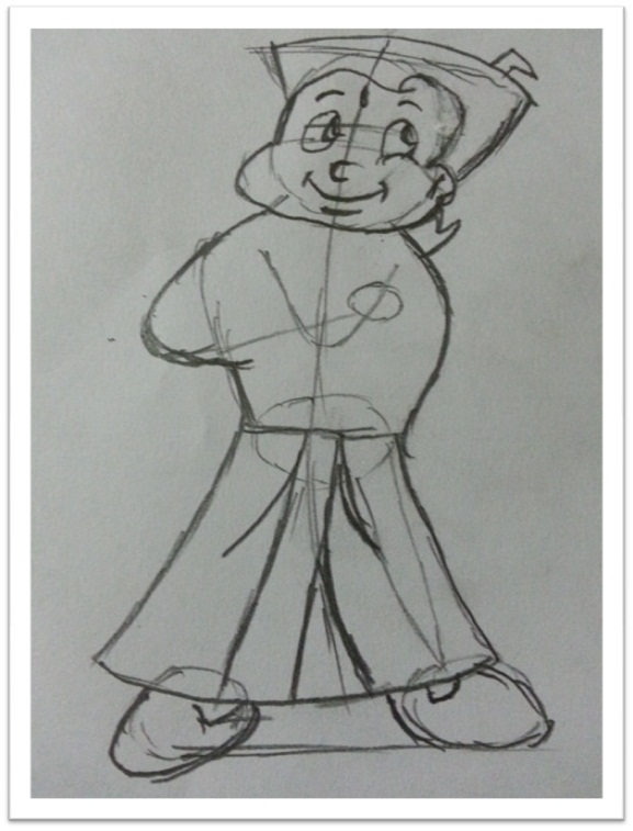 Draw chota bheem cartoon
