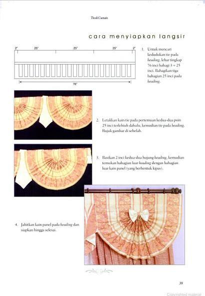 Cara Menyiapkan Langsir Tivoli Curtain