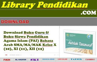 Buku Guru & Buku Siswa Pendidikan Agama Islam (PAI) Bahasa Arab SMA/MA/MAK Kelas X (10), XI (11), XII (12), http://www.librarypendidikan.com/