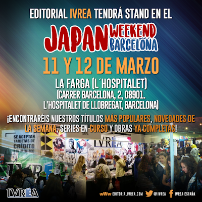 "Editorial IVRÉA tendrá stand en el ""Japan Weekend de Barcelona"""