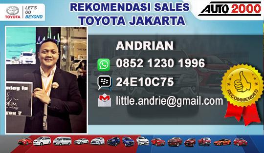 Rekomendasi Sales Toyota Cilandak Jakarta Selatan