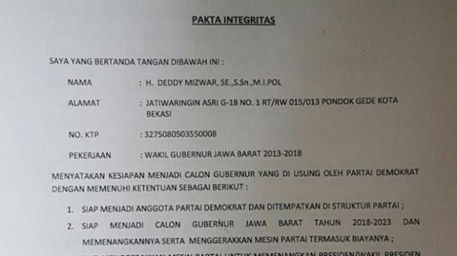 Tak Jadi Usung Deddy Mizwar, PKS Ungkap Dokumen Ini