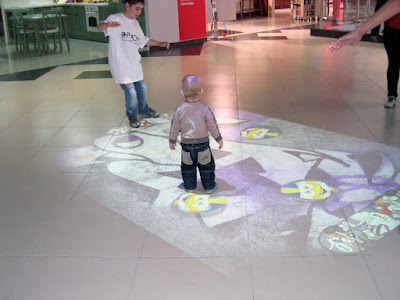Interactive floor projector, live systems