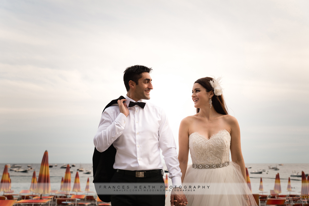 Positano wedding couple