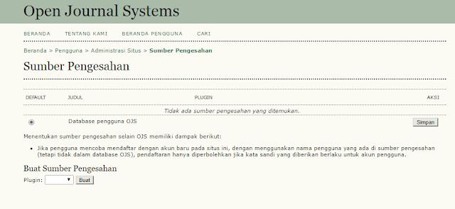 Manajemen Situs OJS