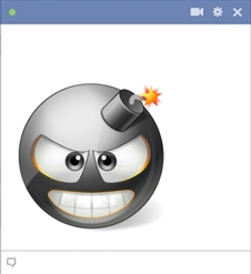 Bomb Smiley For Facebook