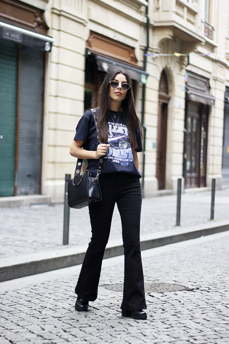 Proving Flare Jeans Are Not Only For Tall People