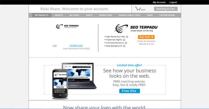 Cara Membuat Logo Online di Situs LogoGarden 5