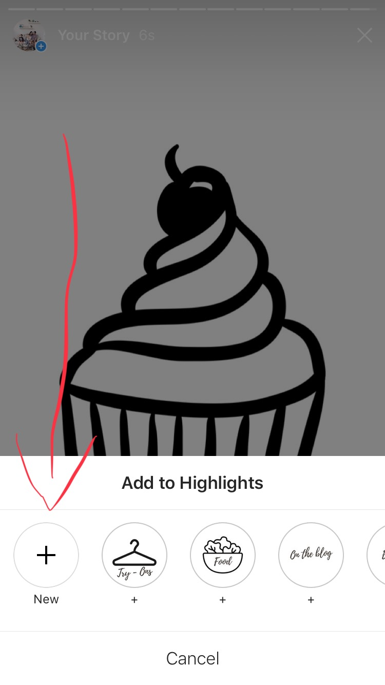 Once You Publish That Image To Your Story Click The Highlights Icon To The Bottom Right Of The Screen