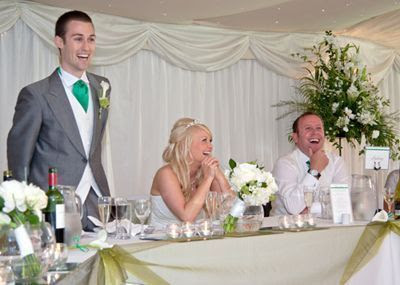 K'Mich Weddings - wedding planning - man giving toast at a wedding