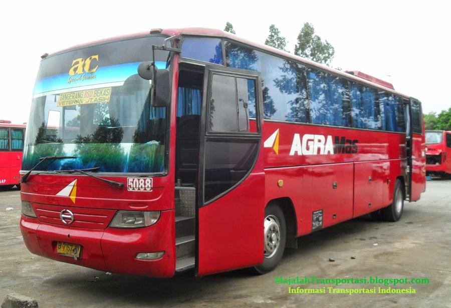 rute dan tarif bus agra mas