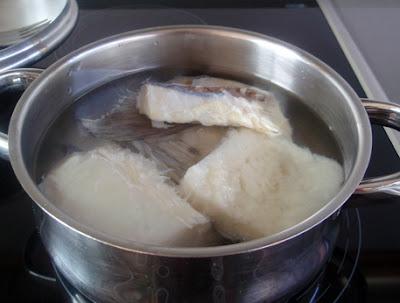 Bacalao escaldado para ensalada
