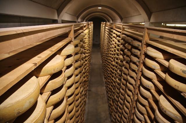 La fort Saint Antoine, cave for comet cheese, Franche-Comté