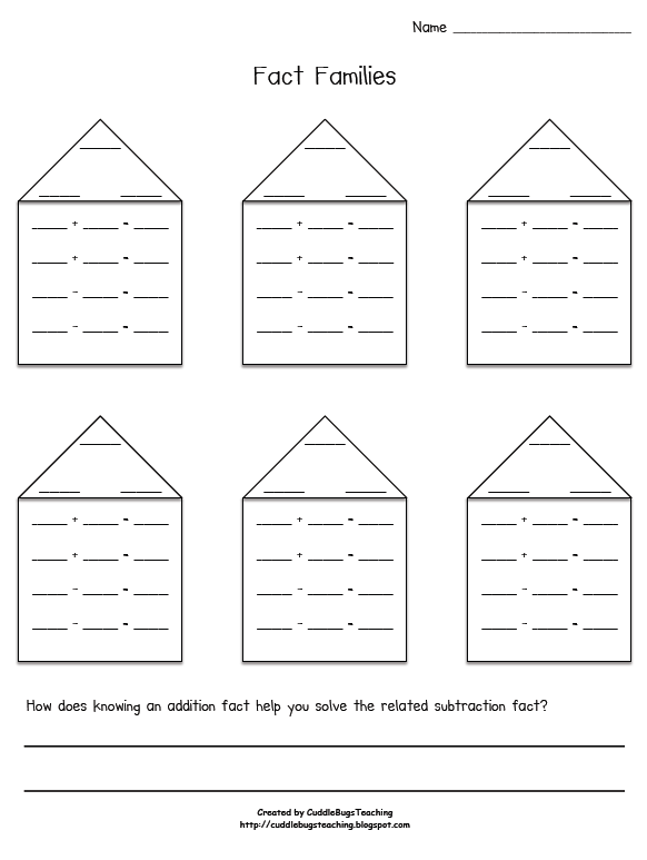 New 830 Fact Family Houses Worksheets 2nd Grade Family