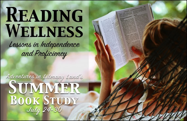 Adventures in Literacy Land is hosting a summer book study in July featuring the book, Reading Wellness, by Burkins and Yaris.