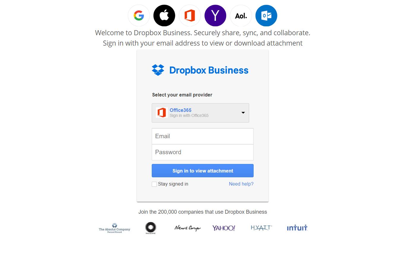 olux shop - Dropbox scama page