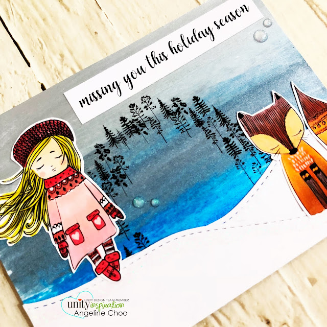 ScrappyScrappy: Beth Duff Designs - Unity Stamp Blog Hop - Serenity is Peace #scrappyscrappy #bethduffdesigns #unitystampco #card #cardmaking #stamp #stamping #quicktipvideo #youtube #copicmarkers #nuvoglitterdrop #decoart #metallicpaint #wintersky #christmascard #missingyou #serenityispeace #winter #christmas