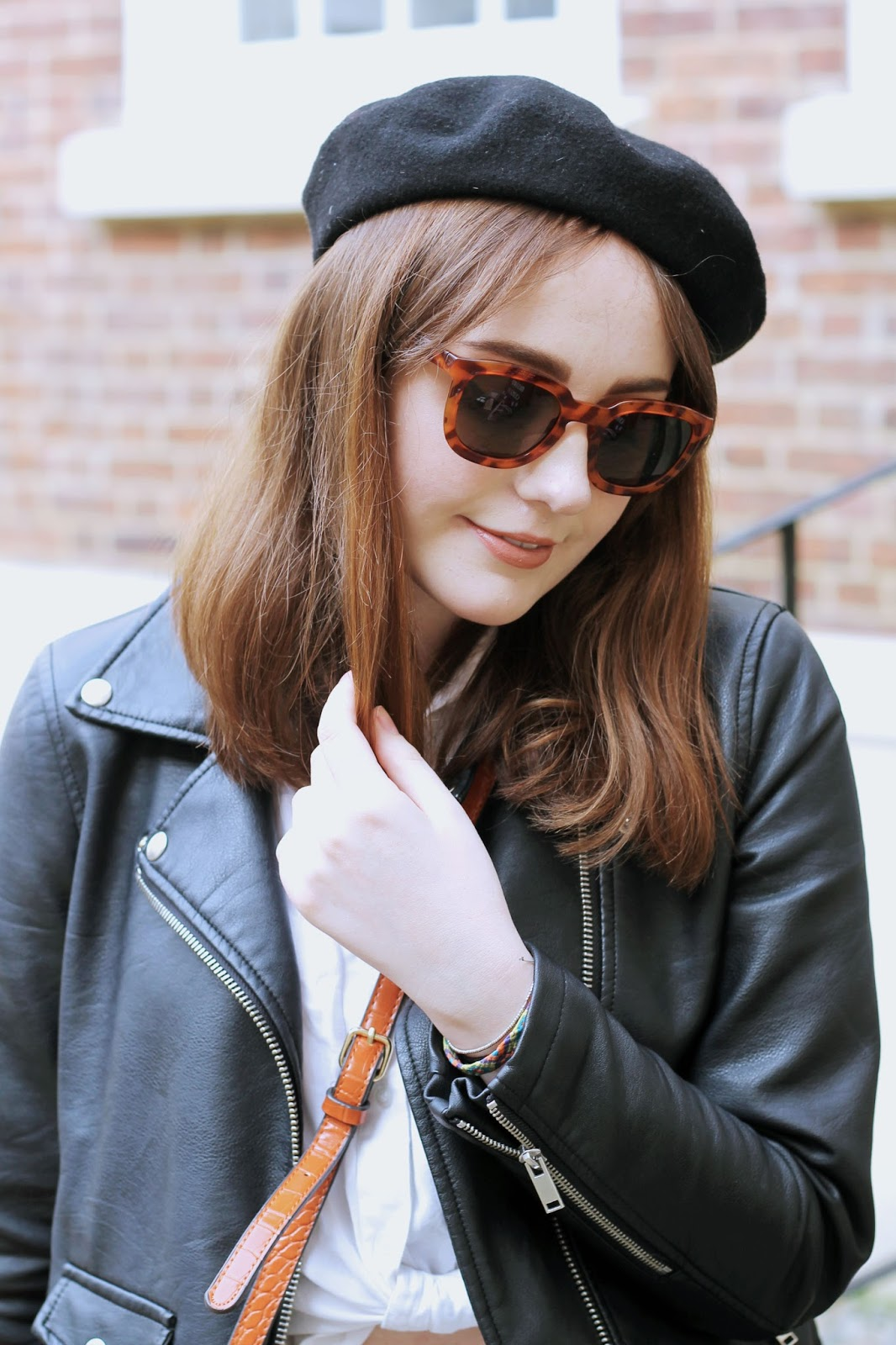 beret and sunglasses style inspiration
