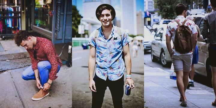 Camisa floral masculina será tendência forte em 2018