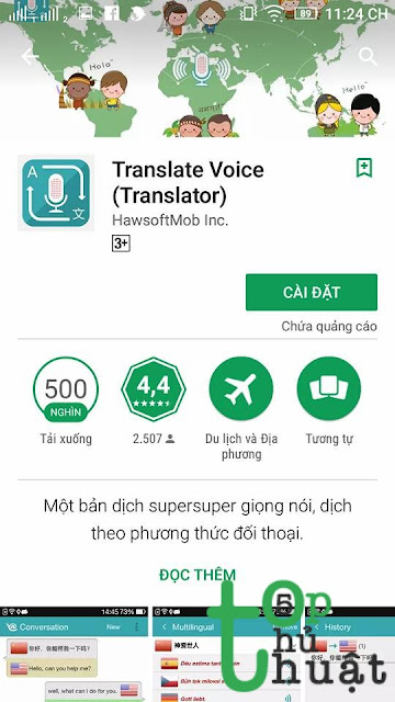 Ứng dụng dịch thuật: Translate Voice