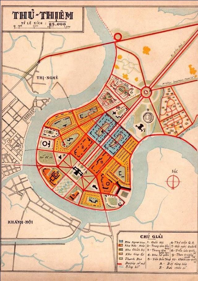 Bản đồ quy hoạch Thủ Thiêm