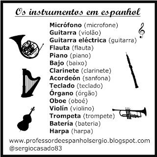 Los instrumentos musicales en portugués