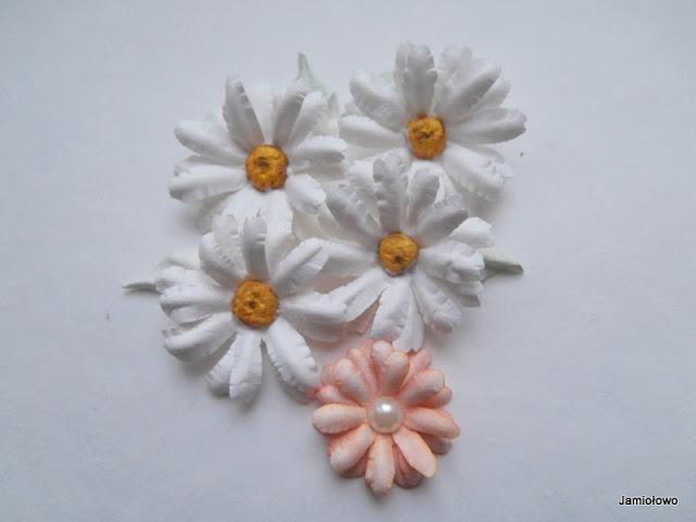 gotowe kwiatki -margaretki lub stokrotki