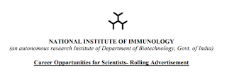 NII Delhi Staff Scientist Notification 2018 & Application Form Download