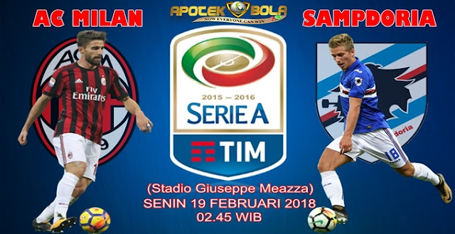 Prediksi AC Milan vs Sampdoria 19 Februari 2018