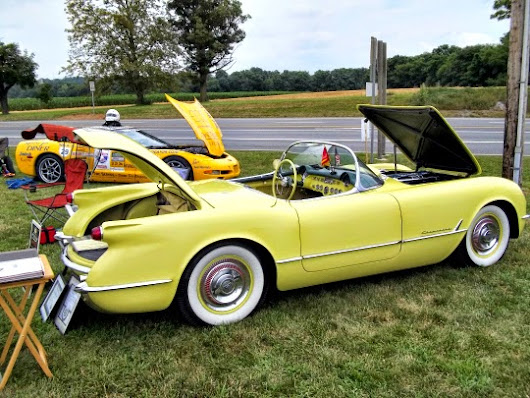 A rare early Chevrolet Corvette with a six cylinder engine