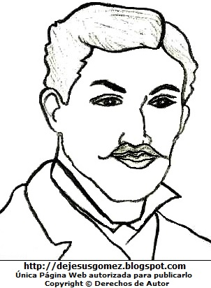 Imagen de Daniel Alcides Carrión para colorear pintar e imprimir. Dibujo de Daniel Alcides Carrión hecho por Jesus Gómez